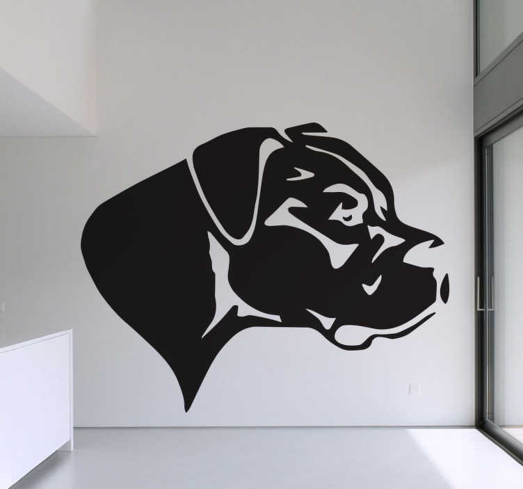 TenStickers. Great Dane Silhouette Wall Sticker. Wall Stickers - Silhouette illustration of a Great Dane. Original wall decal feature for your home or business.
