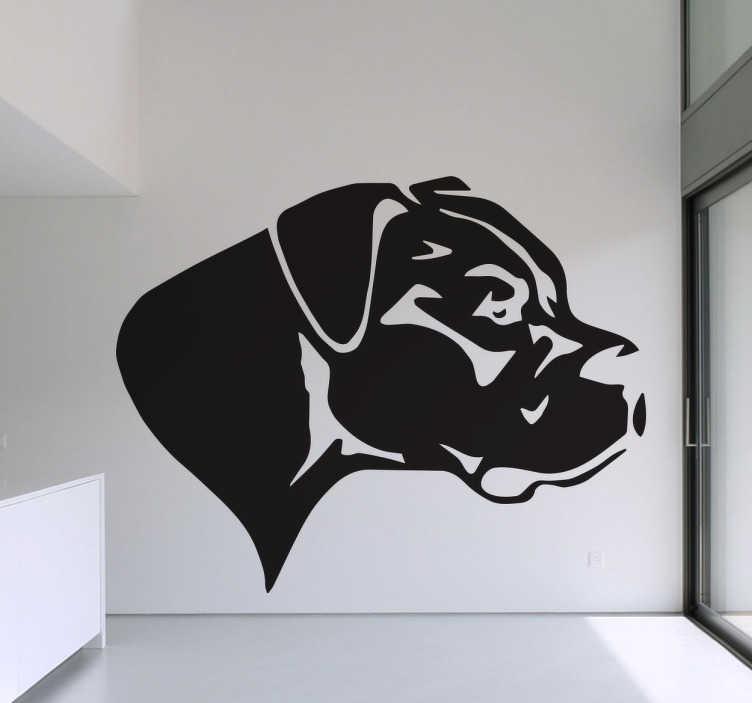 TenStickers. Naklejka dog niemiecki. Naklejka dekoracyjna przedstawiająca sylwetkę Doga niemieckiego, pięknego, postawnego psa, zwykle stróżującego lub broniącego. Dla wszystkich fanów psów!
