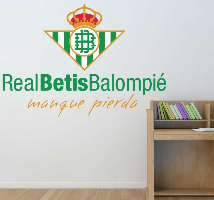 Vinilo decorativo escudo Real Betis