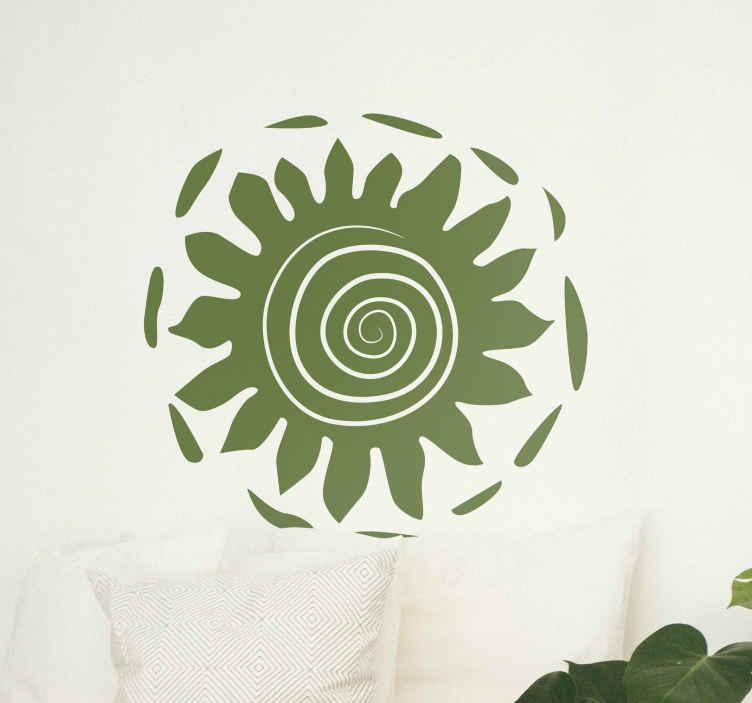 TenStickers. Wandtattoo Sonne Afrika. Gestalten Sie Ihr Wohnzimmer mit diesem wunderschönen Sonnen- Wandtattoo, welches von afrikanischen Zeichnungen inspiriert ist.