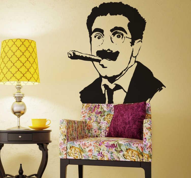 Naklejka z postacią Groucho Marx