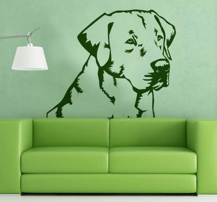 TenStickers. Labrador Retriever Sticker. Decorative sticker of a Labrador Retriever to decorate the walls of your home