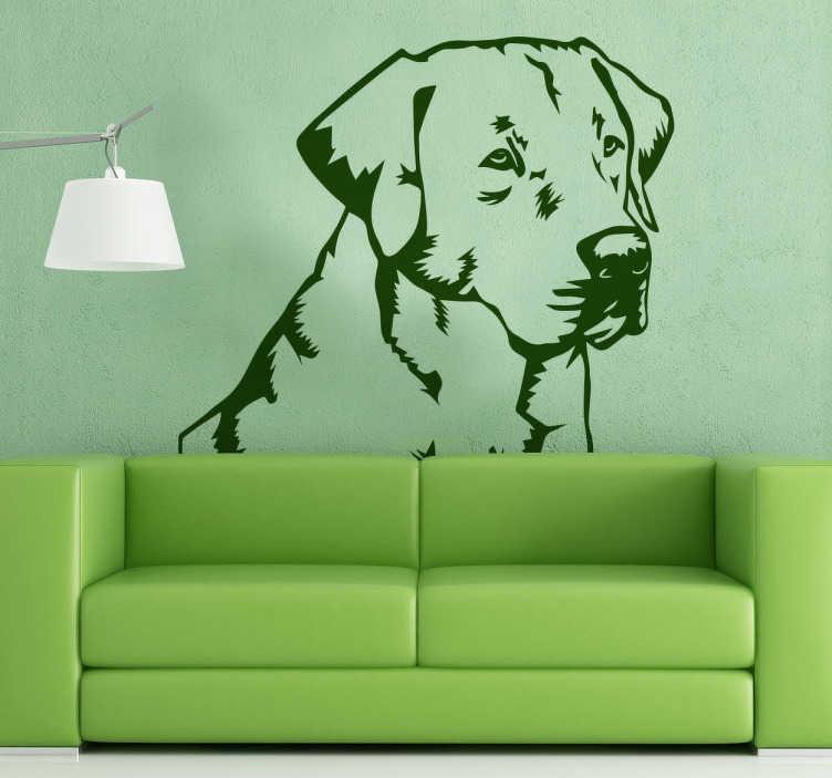 TenStickers. Labrador Retriever Sticker. Decorative sticker of a Labrador Retriever to decorate the walls of your home