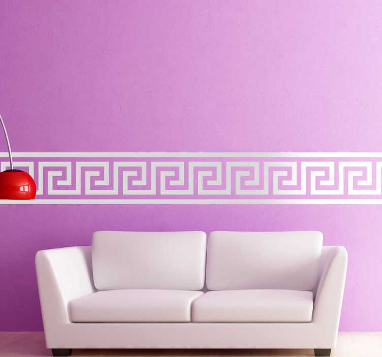 TenVinilo. Vinilo línea cenefa griega simple. Cenefa griega en vinilo para decorar todas las paredes de tu hogar. Personaliza la cenefa escogiendo el color que desees y combínalo.