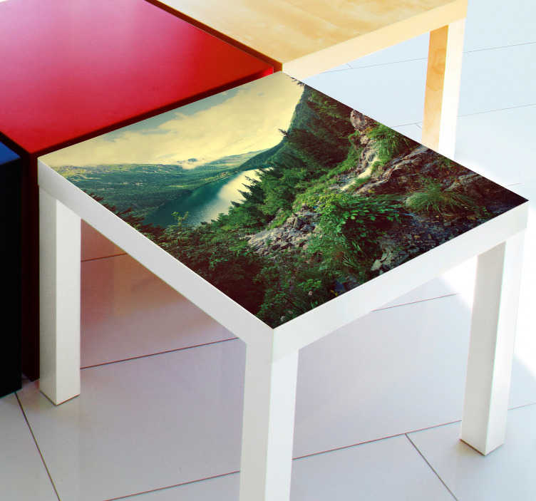 TenStickers. Personalisable Photo LACK Decal. Decals - Decorate plain and dull furniture with your favourite photos.  Ideal for customising IKEA furniture. LACK series.