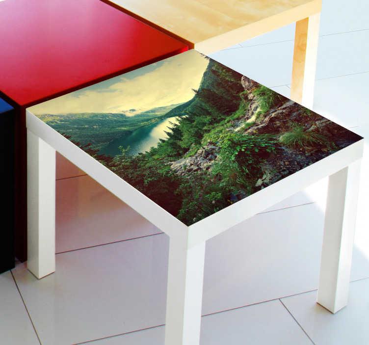 TenStickers. Naklejka na stół zdjęcie. Naklejka dekoracyjna na meble IKEA z serii LACK z dowolnie wybranym przez Ciebie zdjęciem!