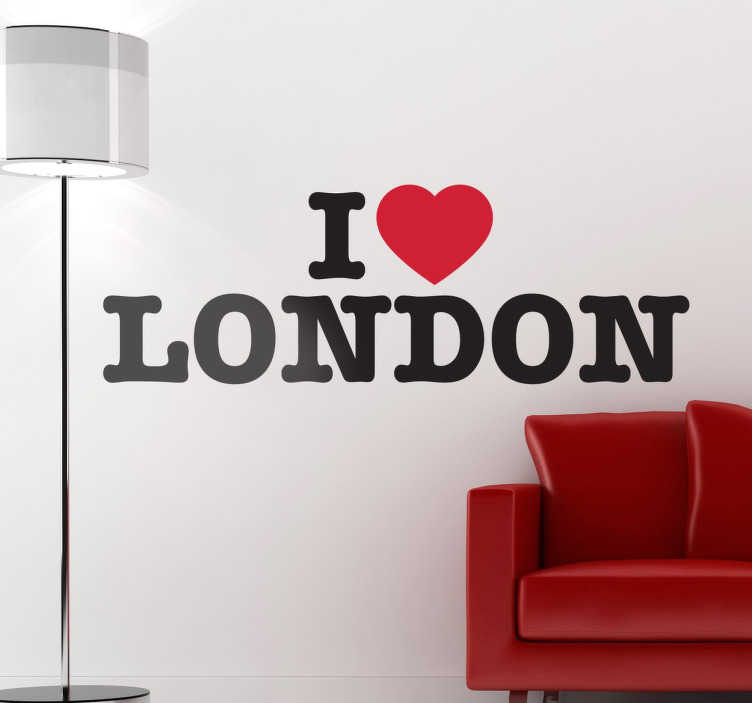 TenStickers. I Love London Decal. A perfect travel wall sticker for those that consider themselves as Londoners or simply love this beautiful city.