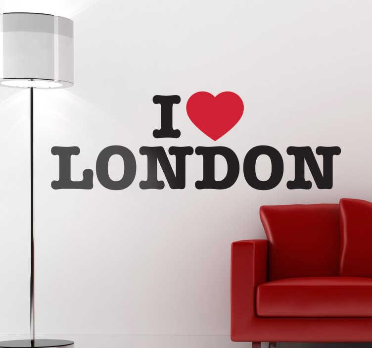 TenStickers. Naklejka I. Dla wszystkich fanów Londynu! Jeśli zauroczyło Cię to miasto umieść naklejkę winylową w swoim pokoju, sypialni bądź salonie. Wzór dostępny w różnych rozmiarach.