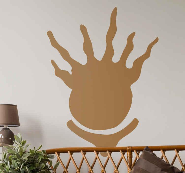 TenStickers. Sticker abstract bol. Deze sticker is leuk ter decoratie van uw woning. Selecteer de dimensies en kleuren naar uw keuze en personaliseer op deze manier uw woning.
