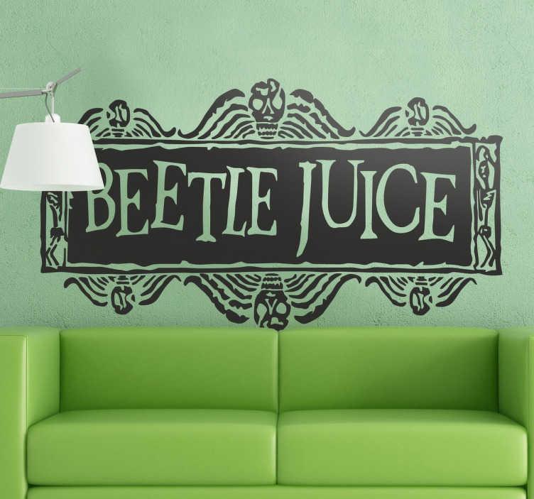 TenVinilo. Vinilo decorativo Beetlejuice logo. Logotipo en vinilo decorativo de la famosa película Bitelchús dirigida por Tim Burton.