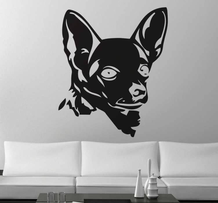 Wall sticker silhouette Chihuahua