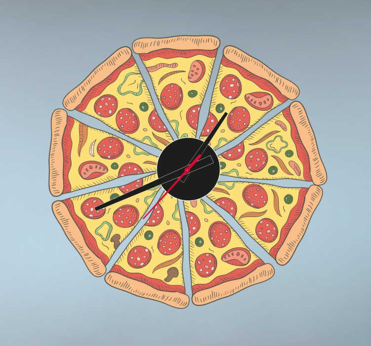 M: Sticko Classic Stickers-Pizza