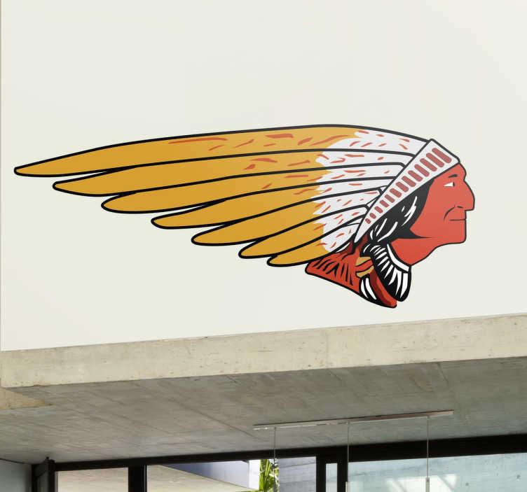 TenStickers. Naklejka logo Indian Motorcycle. Dekoracyjna naklejka na ścianę przedstawiająca logo Indian Motorcycle, popularnej w pierwszej połowie XX wieku i odnoszącej ogromne sukcesy.