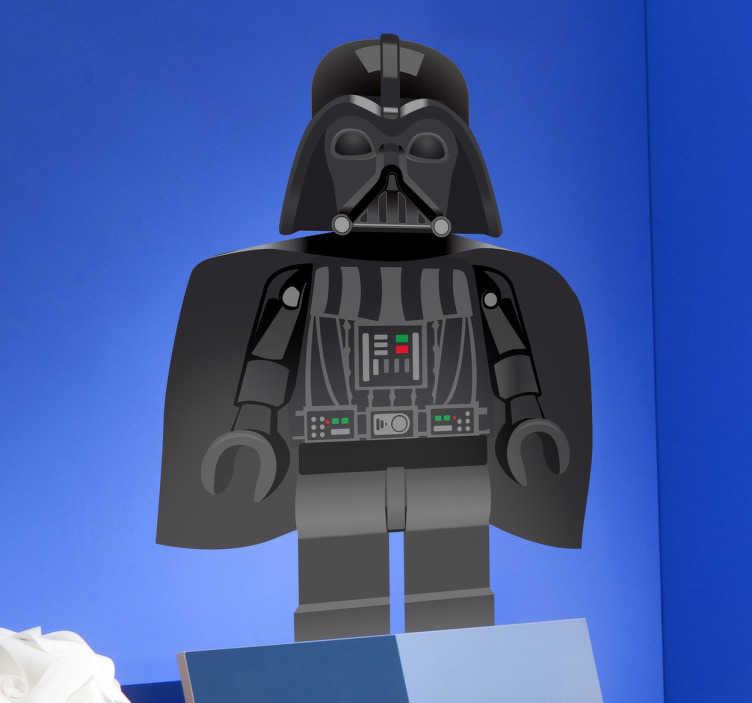 TenVinilo. Vinilo infantil Darth Vader lego. Pegatina infantil de uno de los malvados más célebres de la historia del cine.