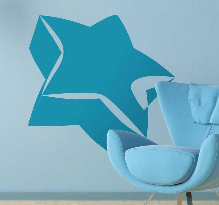 TenStickers. Autocollant mural étoile 3D. Stickers mural illustrant une étoile en 3 dimensions.Sélectionnez les dimensions de votre choix.Idée déco originale et simple pour votre intérieur.
