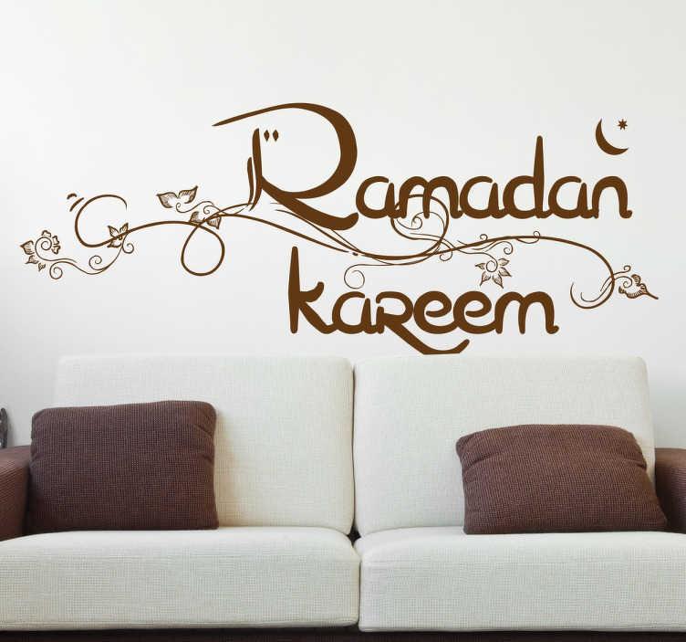TenStickers. Ramadan Kareem Sticker. Sticker speziell für Muslime entworfen. Dekorationsidee Wohnzimmer, Schlafzimmer, Küche und mehr.