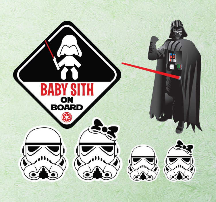 Sticker Set Baby Sith