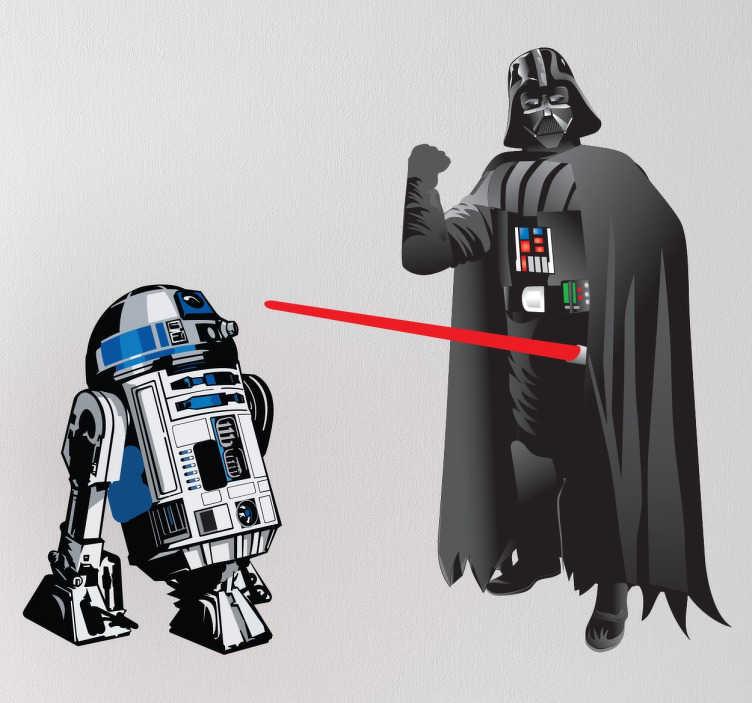 TenVinilo. Stickers personajes Star Wars. Colección de pegatinas para los más entusiastas de las películas de Star Wars y que han visto varias veces toda la saga. Decorad vuestros complementos y estancias con esta serie de jedis y sith o con el clásico robot R2D2