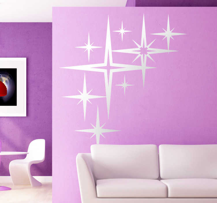 Sticker decorativo stelle