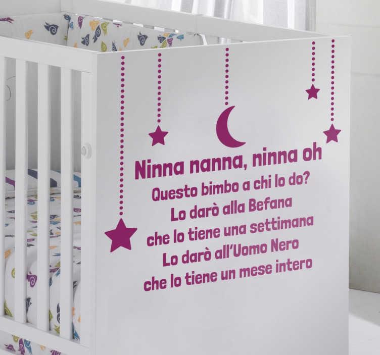 Sticker bambini ninna nanna