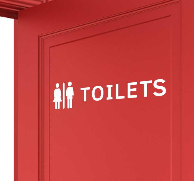 TenStickers. Sticker toilet. Deze sticker zal aanduiden waar het toilet is. Handig voor in restaurants of andere ondernemingen zodat iedereen meteen kan zien waar het toilet is.