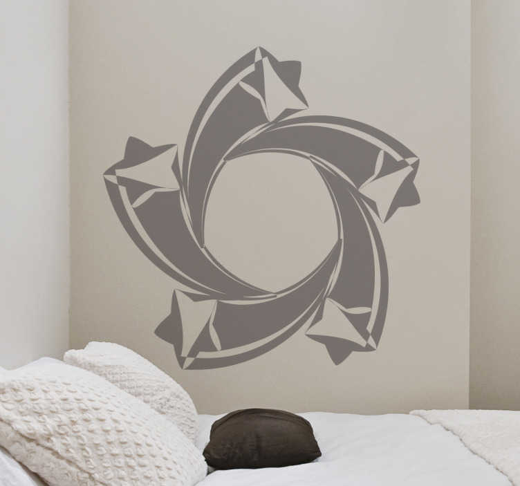TenStickers. Spiral Shooting Stars Sticker. Decorative set of original shooting stars in a spiral form. A brilliant design from our star wall stickers new collection.