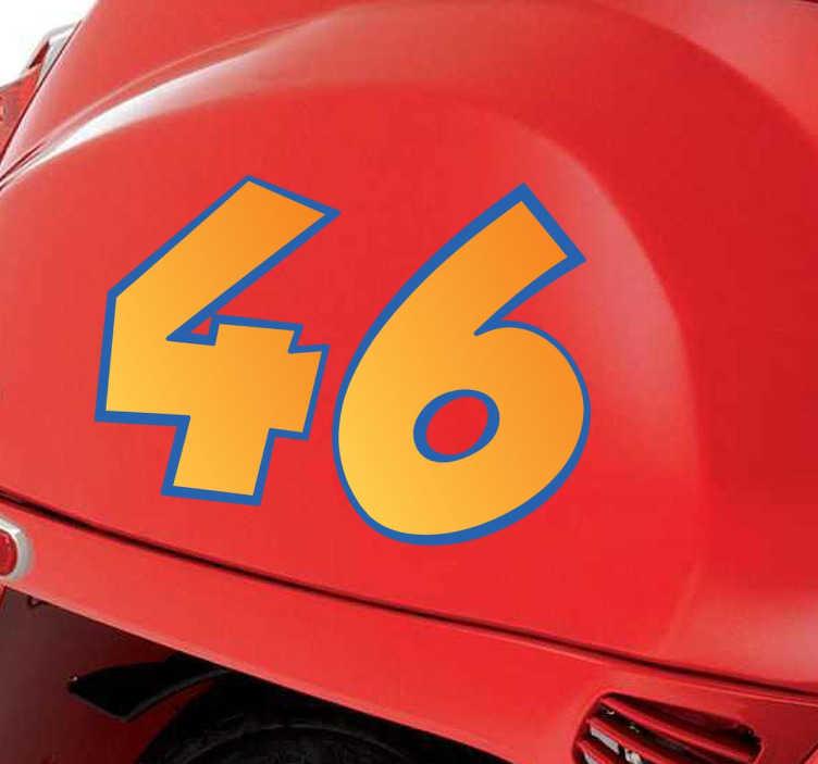 TenStickers. Autocolante decorativo número personalizável. Autocolante decorativo de um número personalizável. Ideal para a decoração da moto.