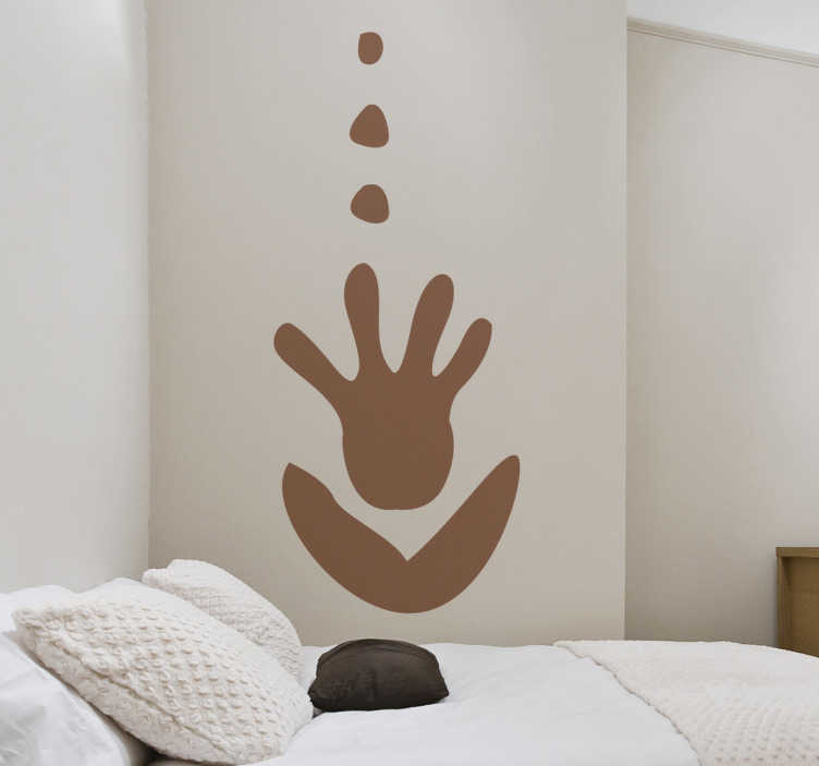 TenStickers. African Hand Flower Wall Sticker. Wall Stickers - Original design of a hand as a flower. Available in 50 colours.