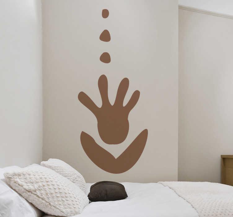 TenStickers. Sticker main africaine. Stickers mural inspiré de l'art africain. Dessin à l'intersection entre une main et une fleur.Idée déco pour la chambre à coucher ou le salon. Ajoutez votre touche personnelle en sélectionnant une couleur.