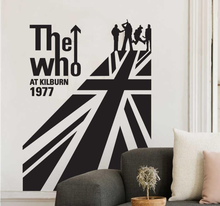 TenVinilo. Vinilo decorativo The Who bandera. ¿Eres fan de la mejor banda inglesa de siempre? ¿Te gusta The Who? Hazte con un espectacular vinilo que lo demuestre.