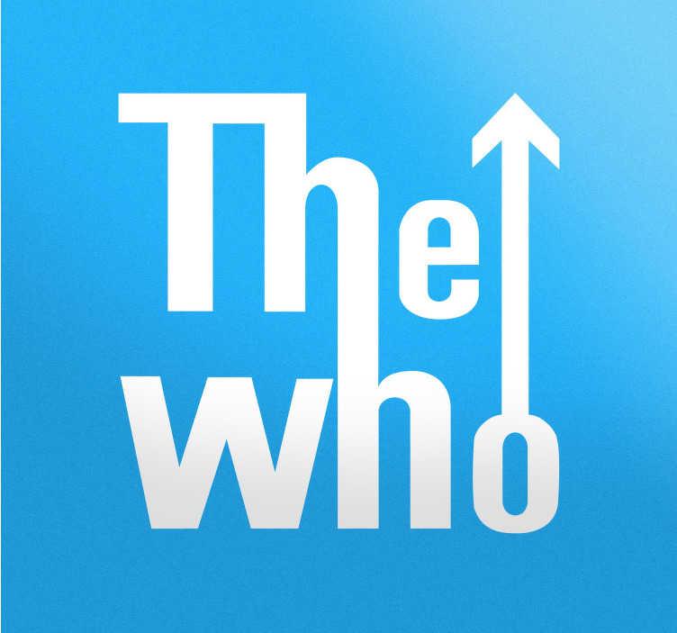 TenStickers. Naklejka logo The Who. Naklejka dekoracyjna przedstawiająca logo angielskiego zespołu rockowego The Who powstałego w 1964 roku.