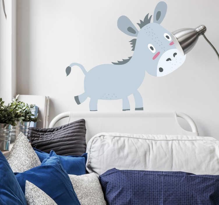 TenStickers. Naklejka dekoracyjna osiołek. Fototapeta dla dzieci przestawiająca dwa osiołki. Obrazek jest dostępny w wielu wymiarach.