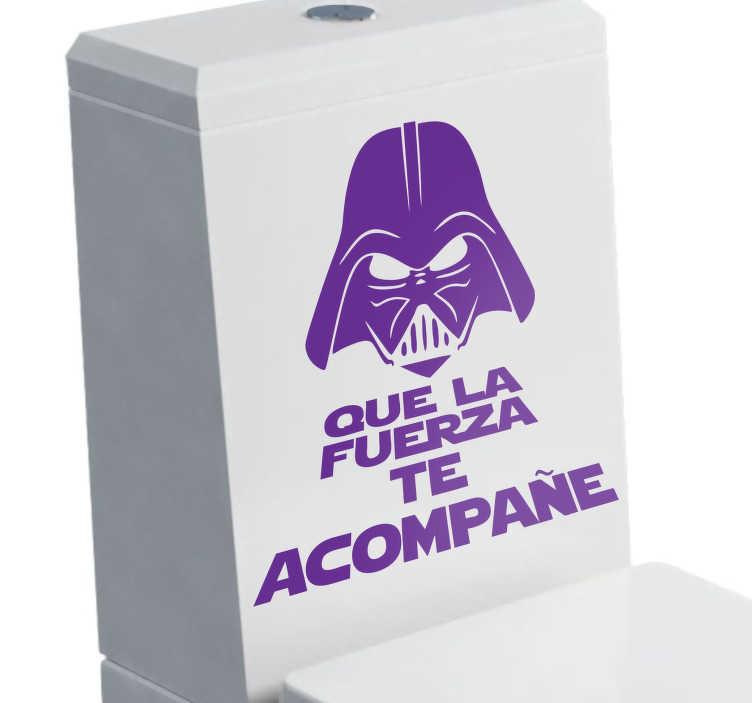 Vinilo retrete Vader que la fuerza