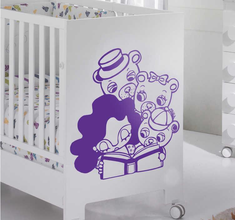 Sticker per bambini Riccioli d'oro e i tre orsi