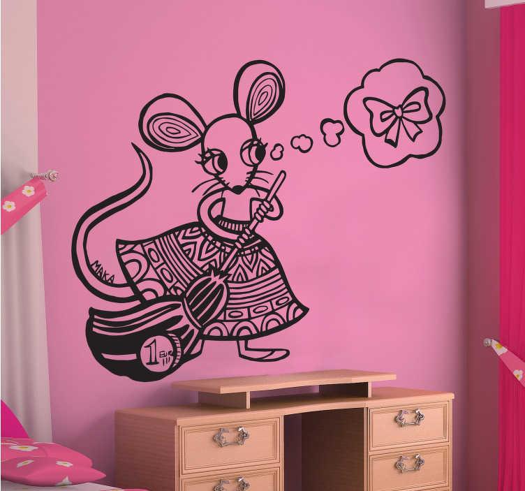 Vinilo infantil ilustración ratilla