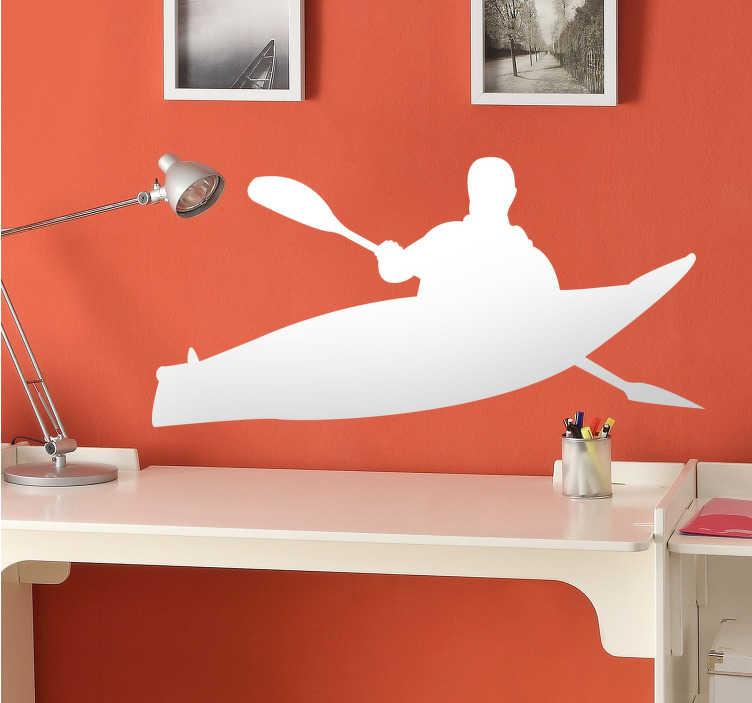 Adesivo silhouette Canoa