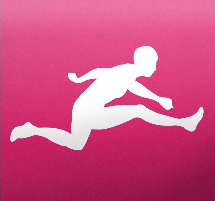 TenStickers. Atleet Sportsticker. Sport stickers als decoratie idee voor de woonkamer en andere kamers in huis!