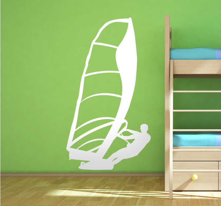 TenStickers. Wind Surfer Silhouette Sticker. Silhouette wall sticker of a windsurfer, ideal for fans of this fun water sport. Place this mono-colour decal in your home to show how much you love this hobby, or in your business as a display piece.