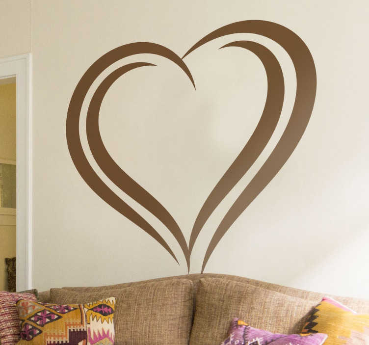 TenStickers. Heart Shape Wall Sticker. A romantic heart wall art decal from our collection of heart stickers to give your home a superb appearance and a warm atmosphere.