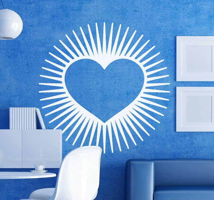 TenStickers. Luminous Heart Wall Art Sticker. A unique design illustrating a heart from our superb collection of heart stickers to give your home a warm atmosphere.