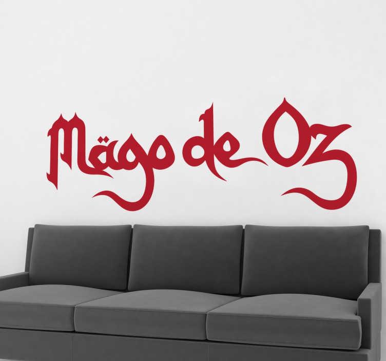 TenVinilo. Vinilo decorativo logo Mago de Oz. Adhesivo con el logotipo de esta emblemática banda de rock española.