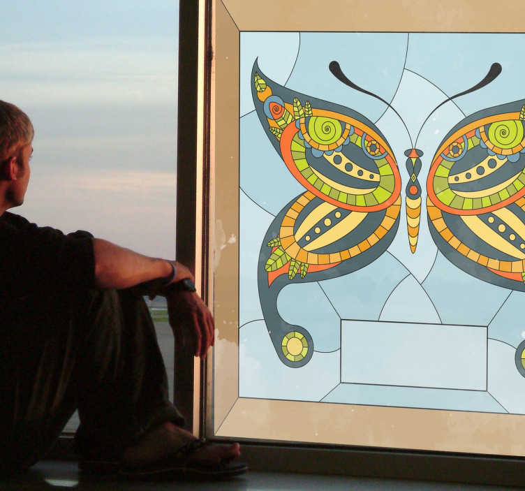 Vetrofania farfalla