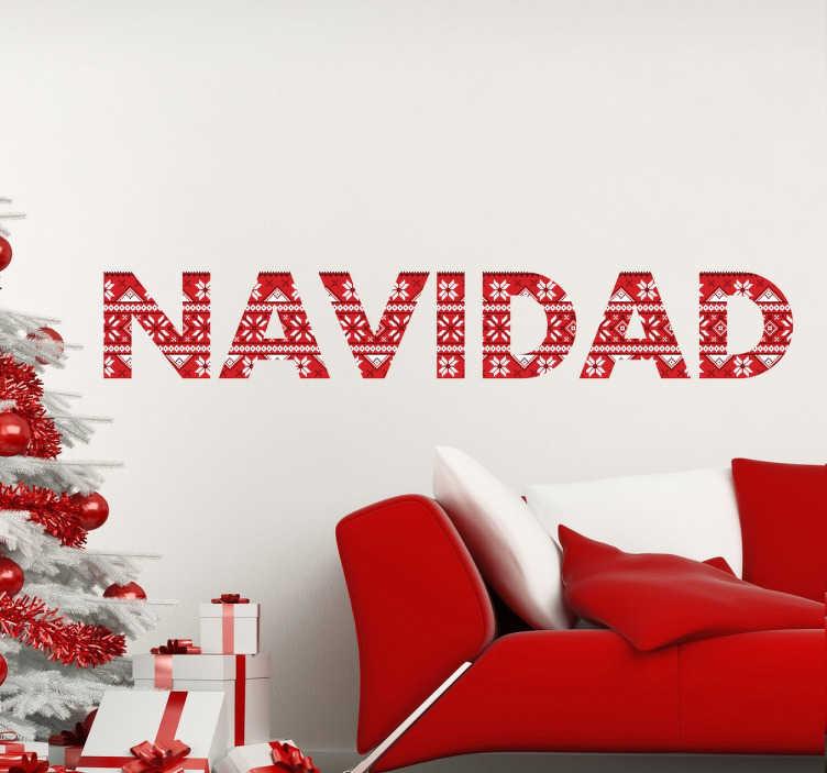 Vinilos de navidad palabra con textura tenvinilo - Decorativos de navidad ...