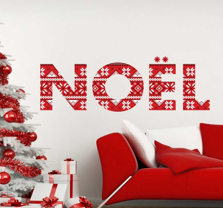 Sticker noel texte