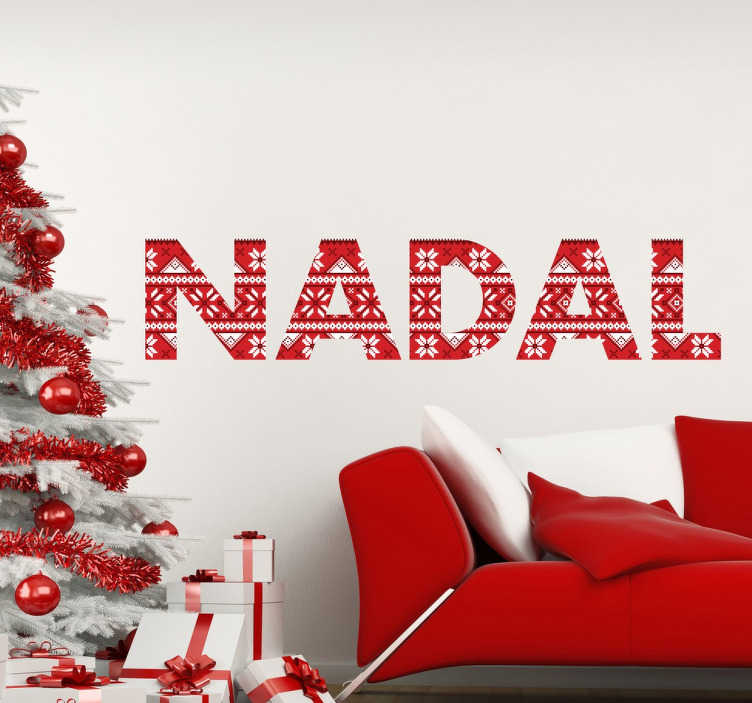 TenVinilo. Vinilos de navidad nadal con textura. Adhesivos para decoración del hogar con motivos navideños en este caso con un texto en catalán.