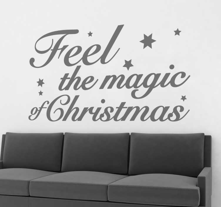 Sticker noel feel magic christmas