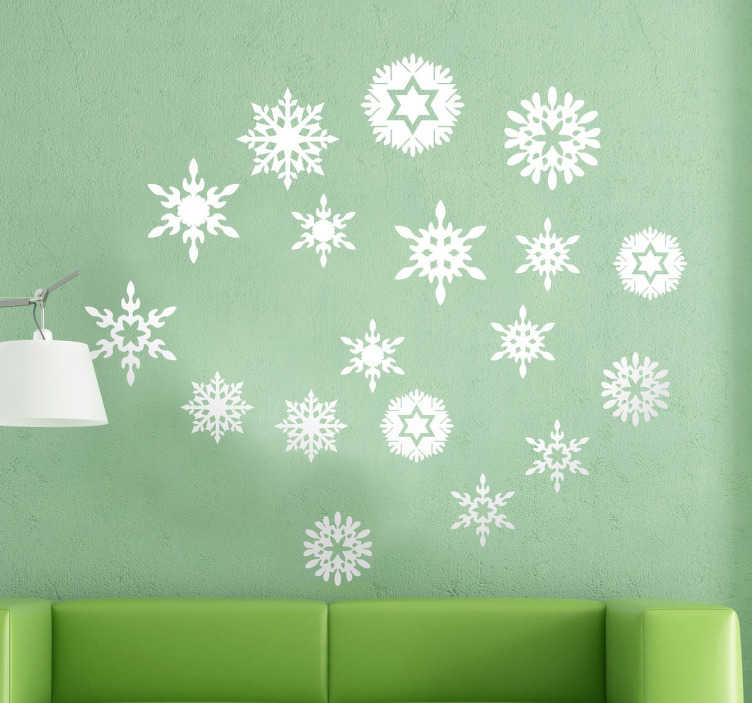 TenStickers. Snowflakes Christmas Sticker. Sticker collection inspired by the best winter holiday season.