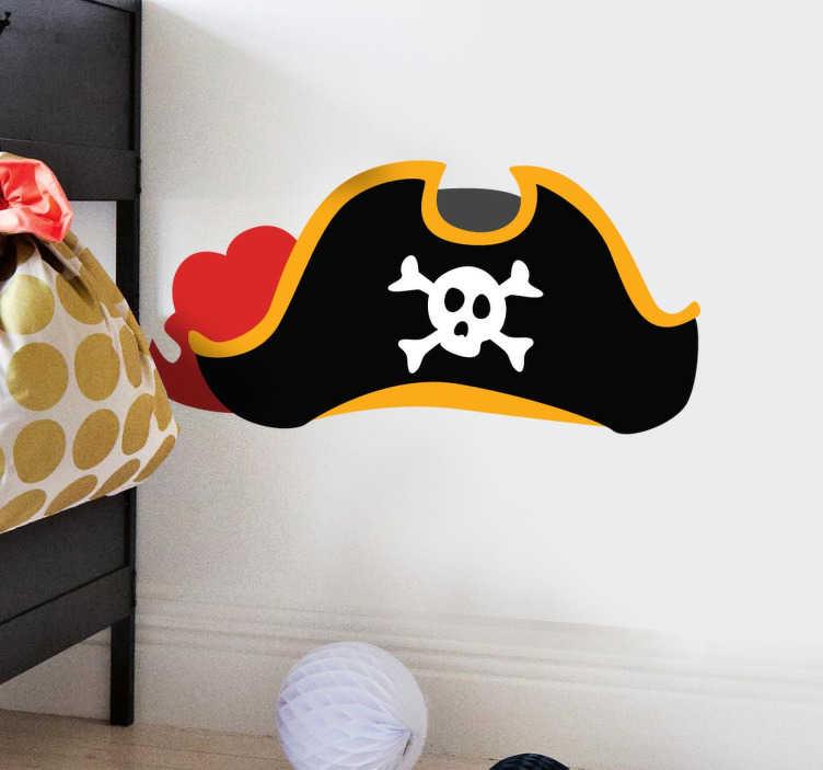 Adesivo infantil chapéu pirata