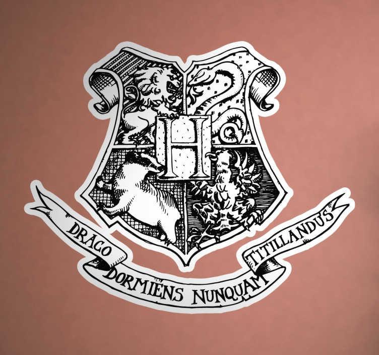 Adhesivo logotipo colegio hogwarts tenvinilo Vinilos pared harry potter