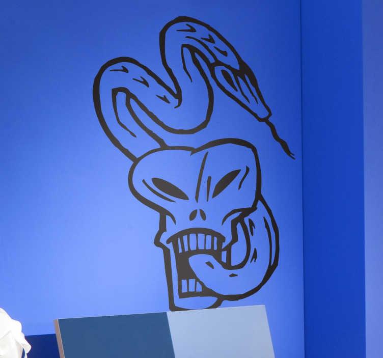 Vinilo decorativo marca voldemort tenvinilo Vinilos pared harry potter